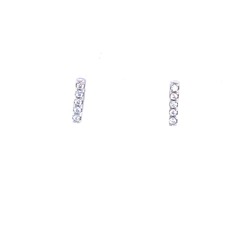 Sparkling Bar Stud Earrings