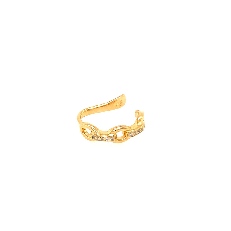 Link Style Ear Cuff in Gold