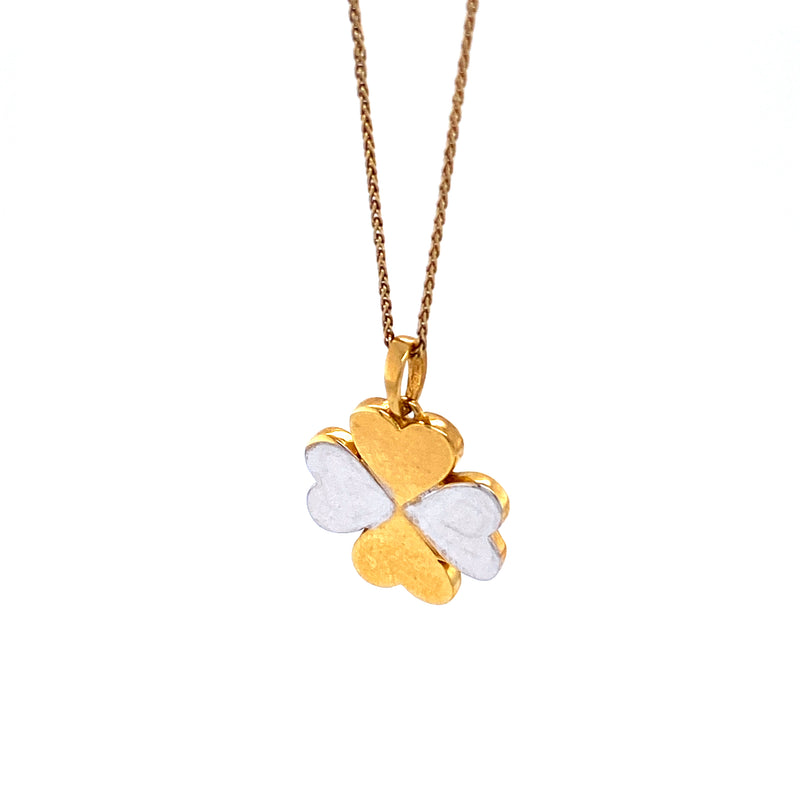 14K Gold Mini Clover Necklace