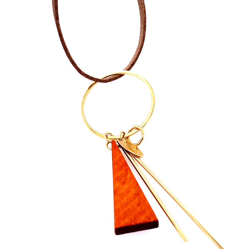 Long Leather Fashion Necklace