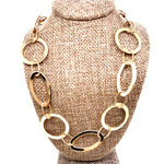 Large Oval & Circle Link Necklace