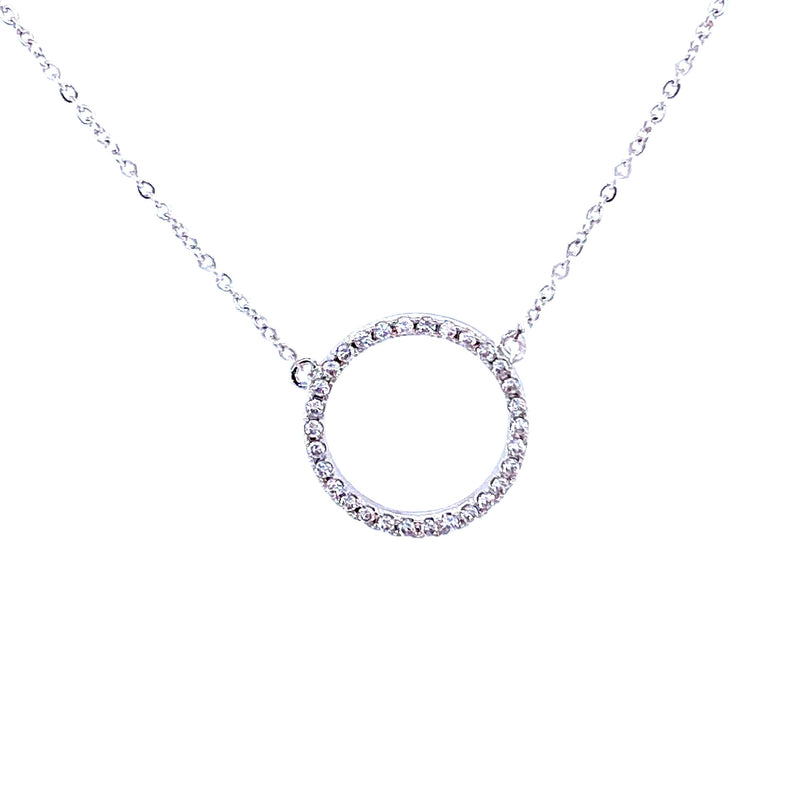 Pavé Circle Necklace