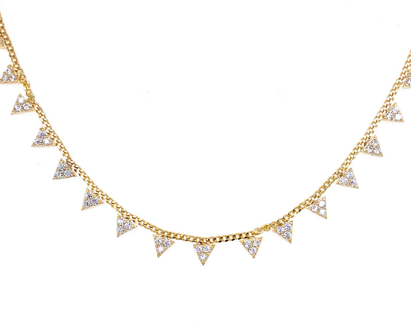 Dangling Triangle Necklace