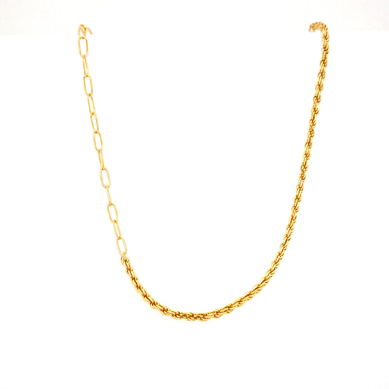 Mini Link & Twisted Chain Necklace