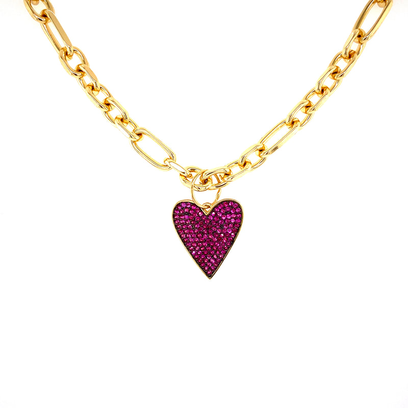 Pink Heart Attachable Charm