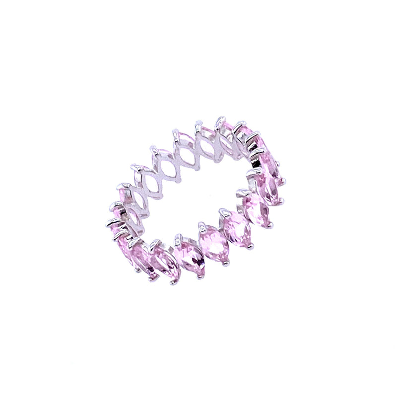 Pink Crystal Band Ring