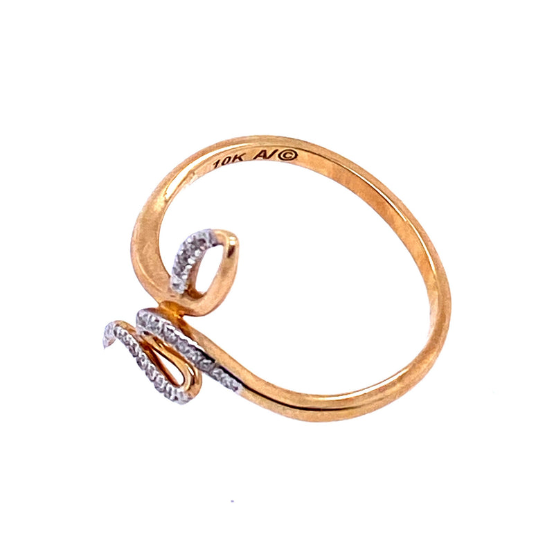 Gold Snake Diamond Ring