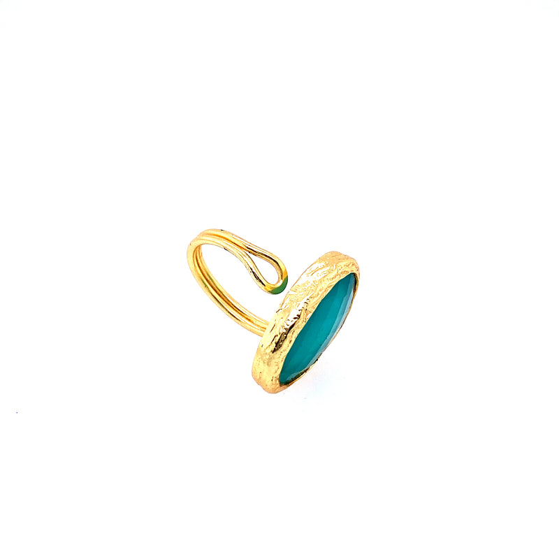 Chalcedony Statement Ring