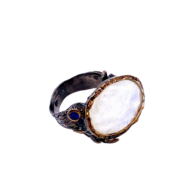 Moonstone Artisan Ring