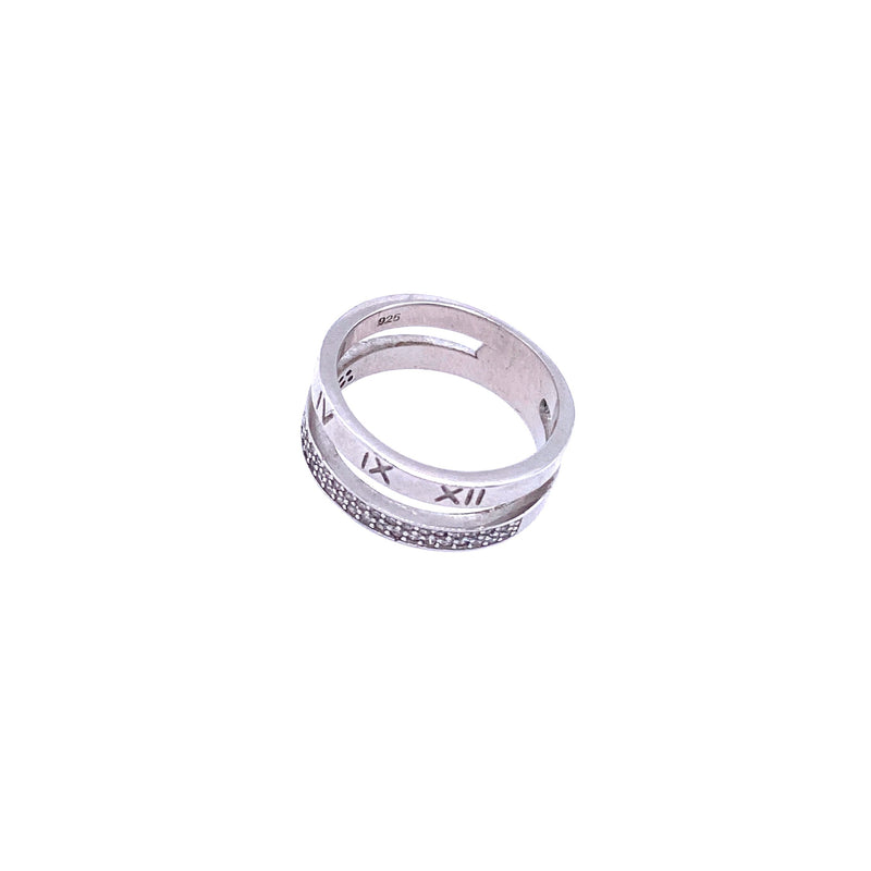 Roman Numeral Double Ring