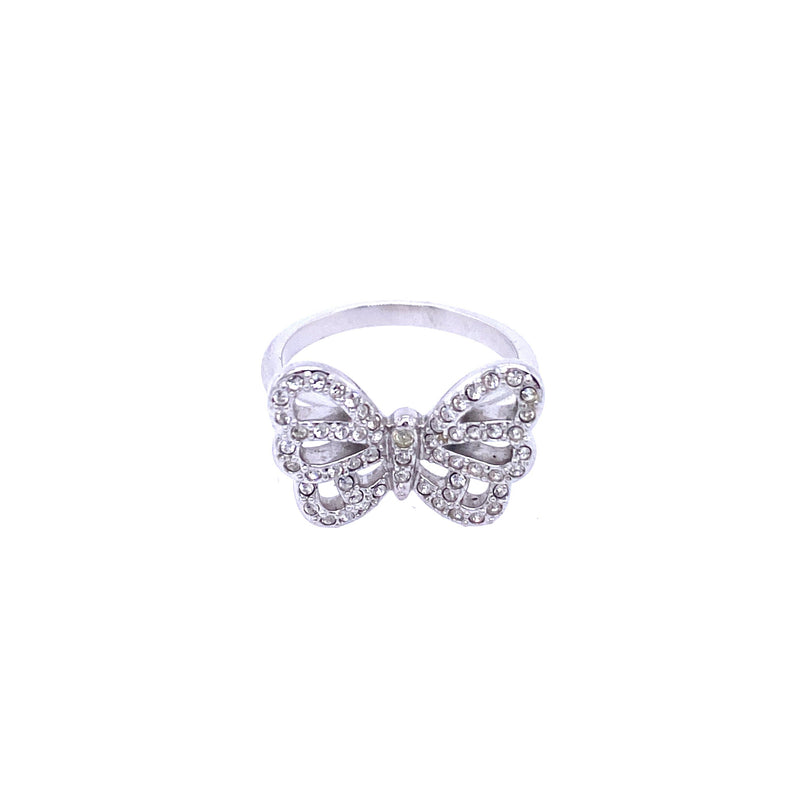 Crystal Butterfly Ring