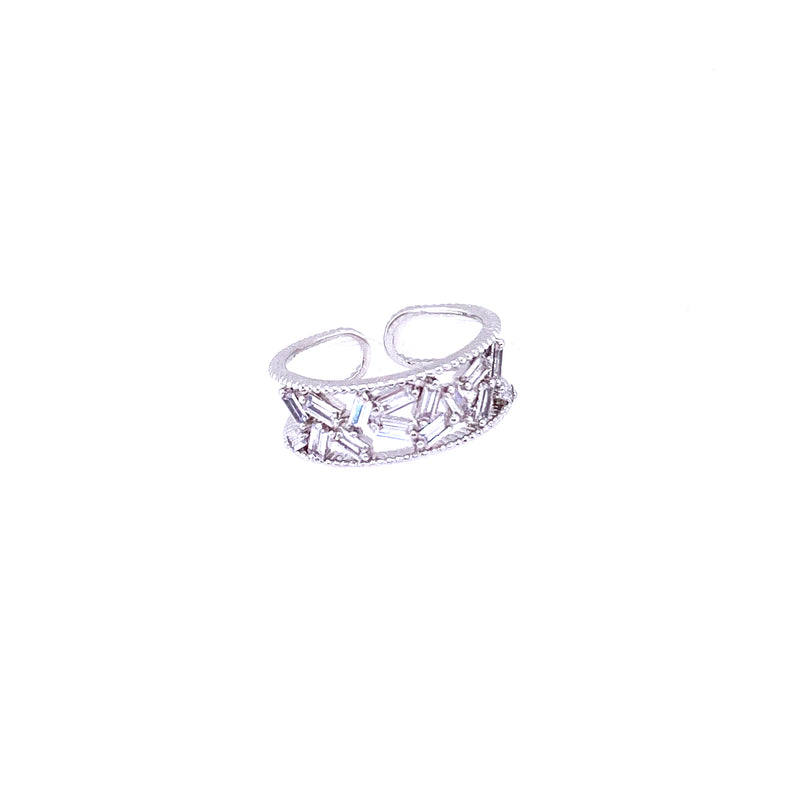 Baguette Ring in Silver