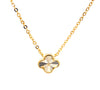Small Clover Pendant Necklace in Gold