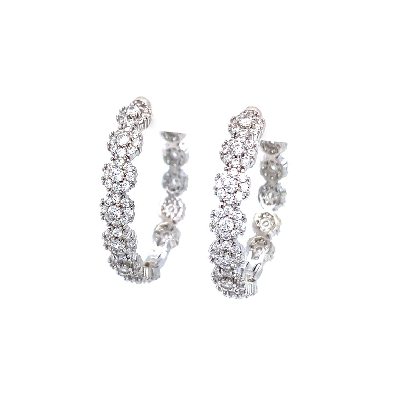Glamorous CZ Hoop Earrings