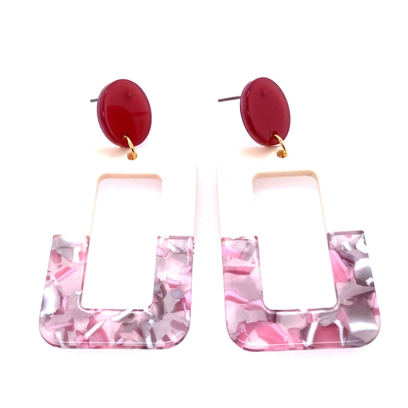 Rectangle Acrylic Tort Earrings