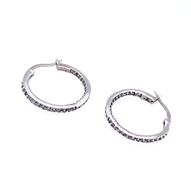 Sterling Silver Classic Medium Hoops