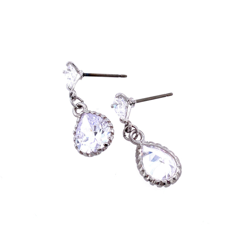 Simple Crystal Dangle Earrings