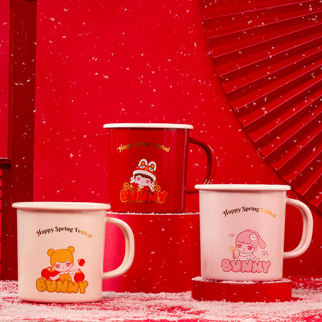 Pop Mart Bunny Happy Spring Festival Enamel Cup - popmart global