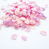 Iridescent Pink Seashell Sequins, 8mm