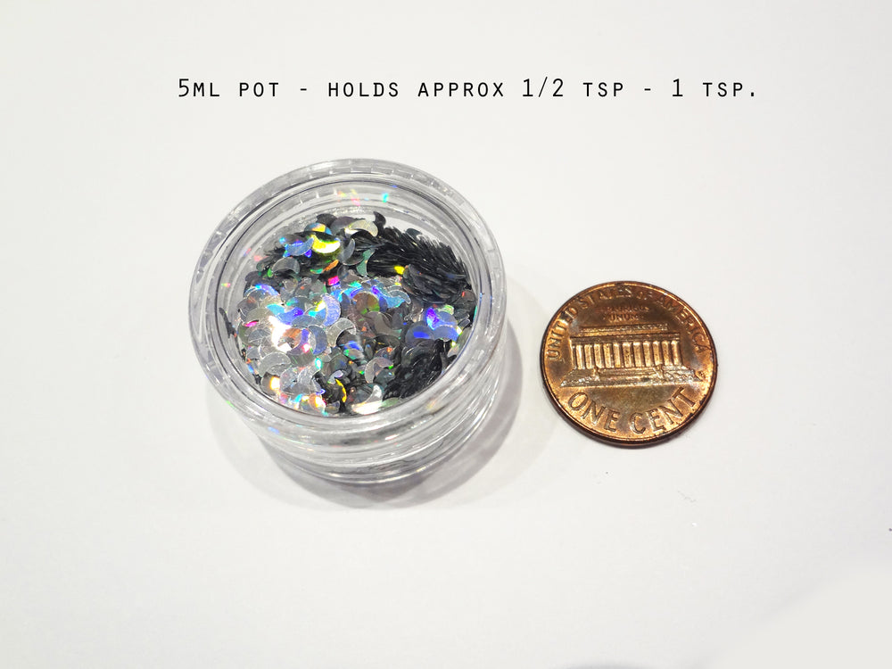 "Dark Rainbow Loose Glitter, .040"" Hex, 1mm, 1/24"