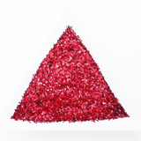 "High Flash Laser Red Loose Fine Glitter, .025"" Hex, 0.6mm, 1/40"