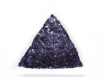 Deep Indigo Blue Tinsel, 0.2x1.5mm, Solvent Resistant Glitter