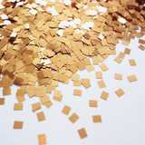 Apricot Bronze Square Rectangle Glitter, 2mm, Solvent Resistant Glitter