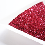 "Cardinal Red Loose Ultra Fine Glitter, .008"" Hex, 0.2mm 1/128"