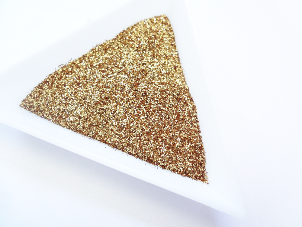 "Golden Pineapple Loose Ultra Fine Glitter, .008"" Hex, 0.2mm 1/128 Solvent Resistant Glitter"