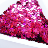 Holographic Wildberry Pink Diamond Shape Glitter, 3x1.5mm, Solvent Resistant Glitter