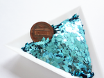 Teal Blue Diamond Shape Glitter, 4x2mm