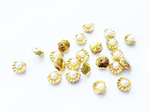 6x5mm 3D Gold Shell with Pearl