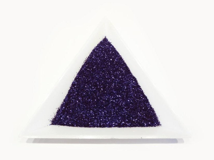 "Midnight Blue Loose Ultra Fine Glitter, .008"" Hex, 0.2mm 1/128"