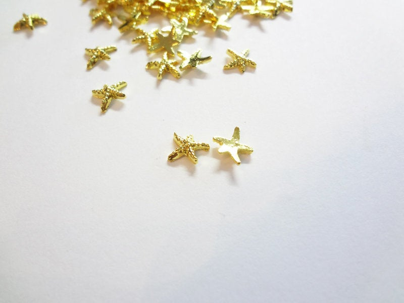 7mm Gold Starfish Studs