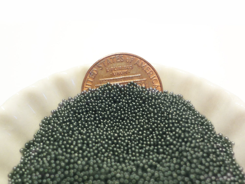 0.6-0.8mm SMOKY GRAY Semi-Transparent Microbeads