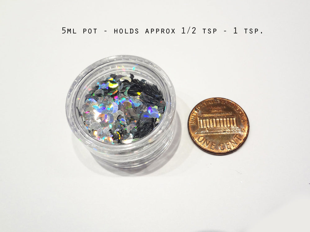 "Snow White Loose Ultra Fine Glitter, .008"" Hex, 0.2mm 1/128 Solvent Resistant Glitter"