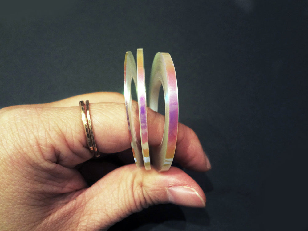 Iridescent Translucent Nail Tape, 1mm, 2mm, or 3mm