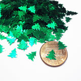 Metallic Green Tree Sequins, 7mm