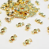 6x3mm 3D Gold Candy