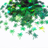 Holographic Green Palm Tree Glitter, 10x8mm