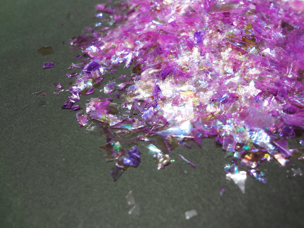 Iridescent Lilac Purple Flakes