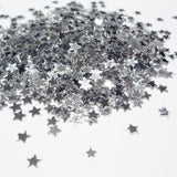 Metallic Silver Tiny Star Sequins, 3mm