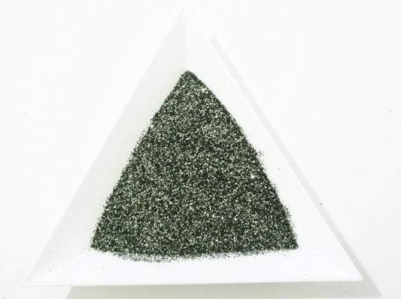 "Army Green Loose Ultra Fine Glitter, .008"" Hex, 0.2mm 1/128 Solvent Resistant Glitter"