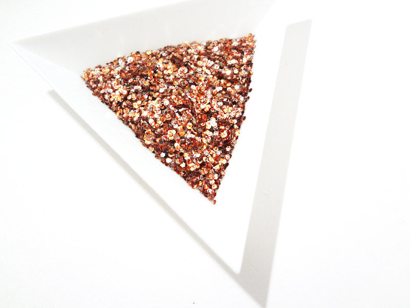 "Duo Red and Pale Gold Loose Glitter, .040"" Hex, 1mm, 1/24"