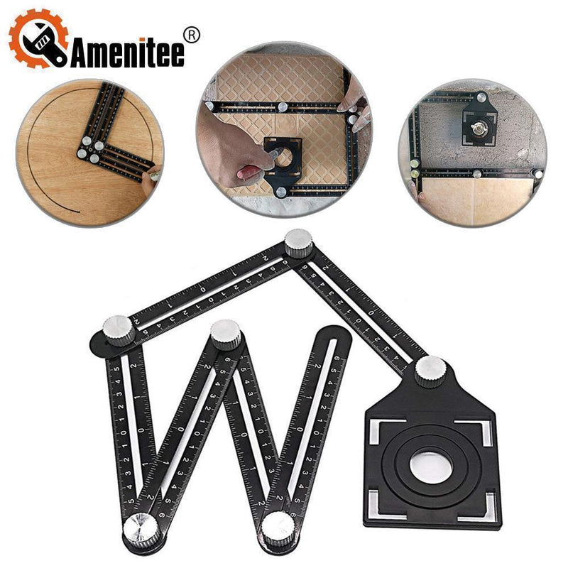 Amenitee® Six-Sided Aluminum Alloy Angle Measuring Tool - mygeniusgift