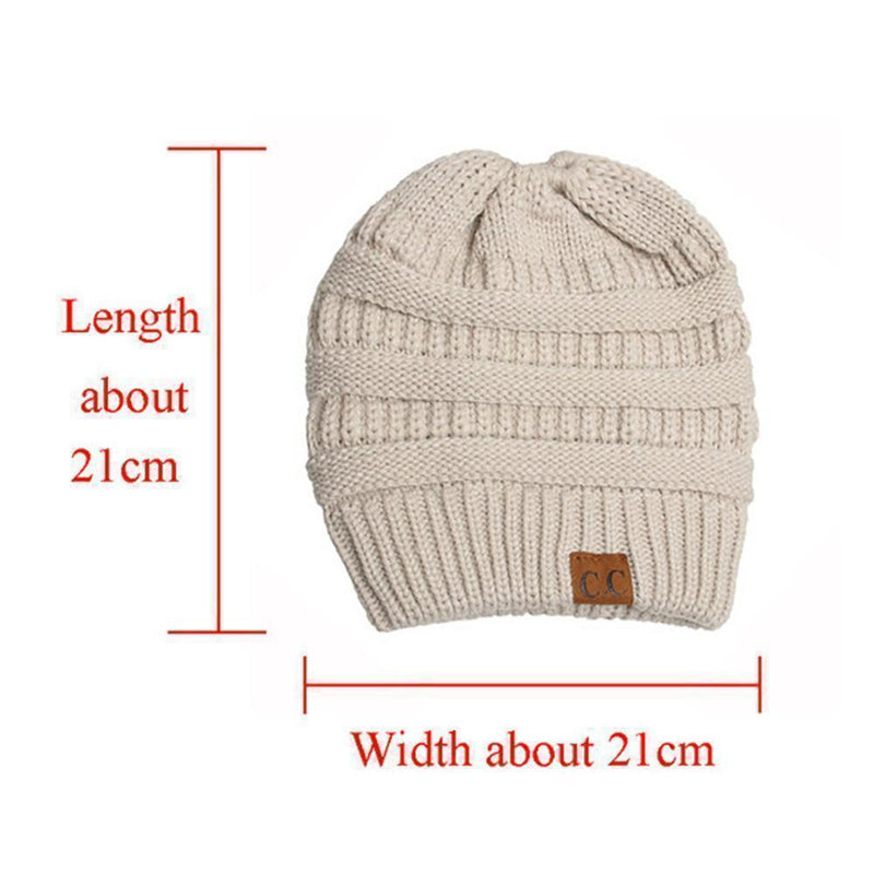 Soft Knit Ponytail Beanie Hat - mygeniusgift