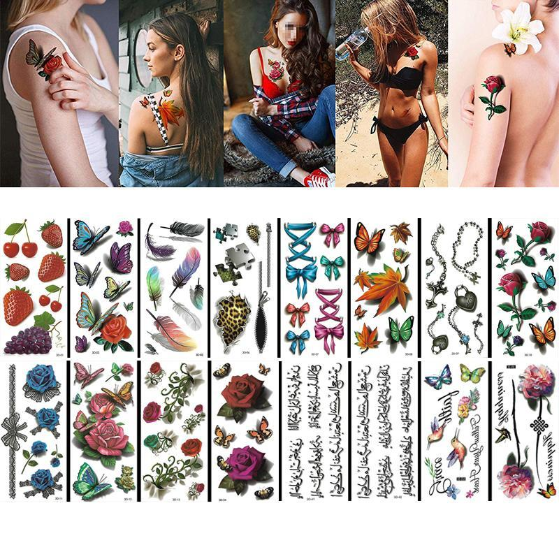 3D waterproof Painless tattoo  (16 pieces)