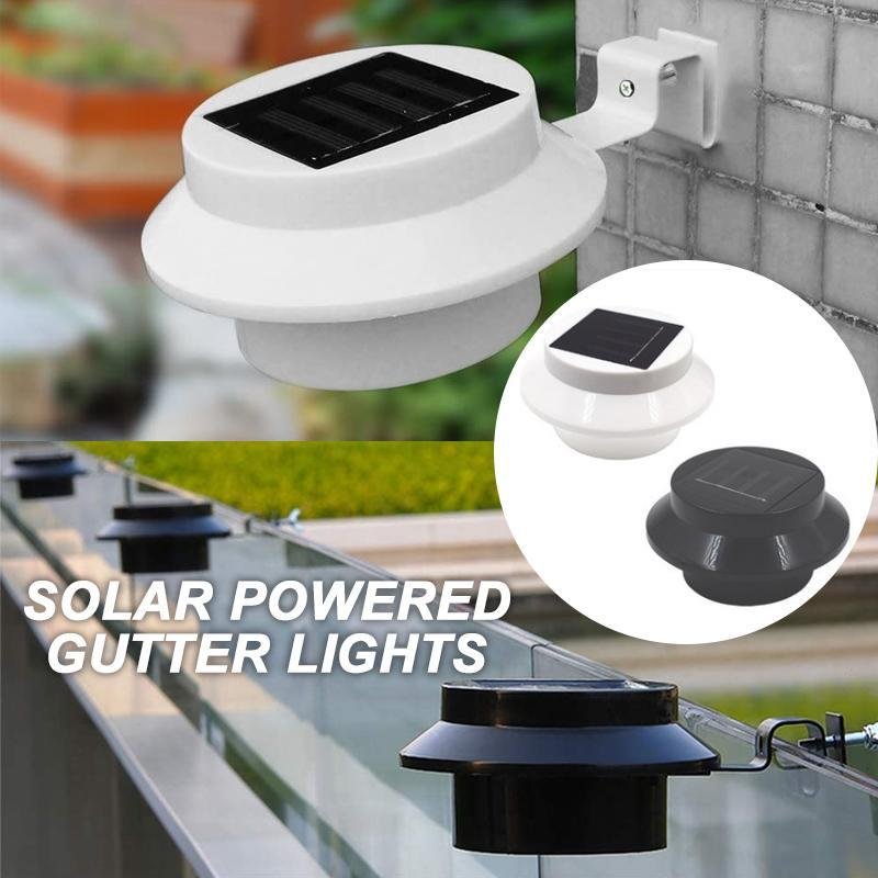 Solar powered gutter lights(2PC)