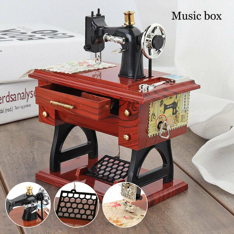 Cabinsight™ Mini Sewing Machine Music Box