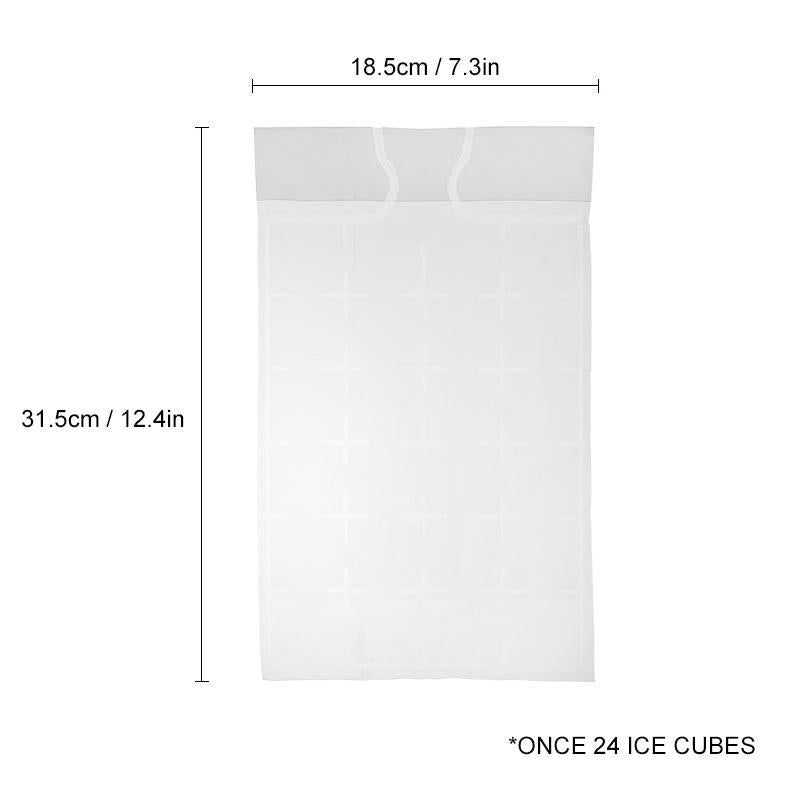 Self-Sealing Ice Cube Shaped Bags